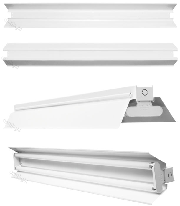 lichtleiste led 1x 2x 60cm 120cm 150cm anbauleuchte reflektor r hren tube t8 g13 ebay