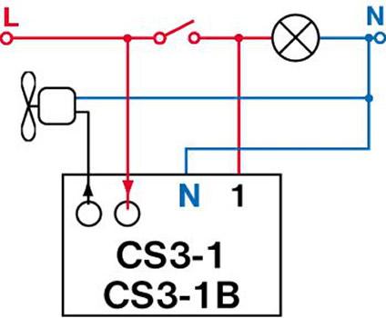 AMS Light » Zeitschalter CS3-1 Nachlaufrelais Unterputz z.B. zu ...